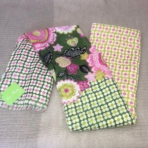 Vera Bradley Green and pink scarf